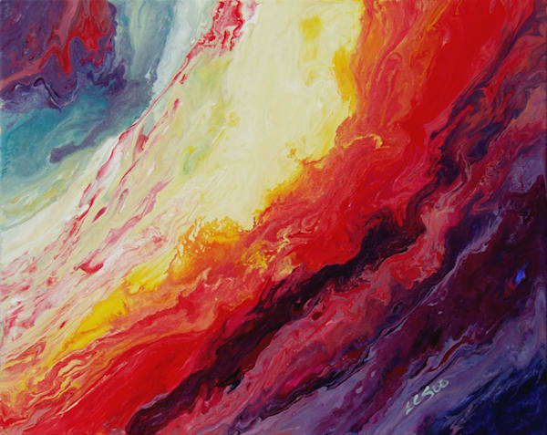 Original Abstract Art of Sunrise - Courageous