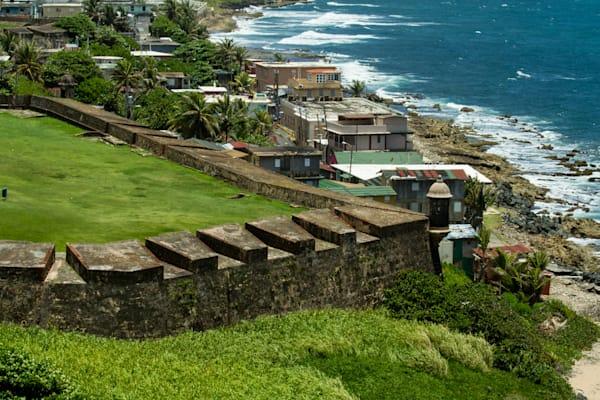 A Fine Art Photograph of San Juan Fort From Above by Michael Pucciarelli