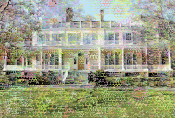 Gracie mansion art, architecture, prints, canvas by Peter McClard  at VectorArtLabs.com