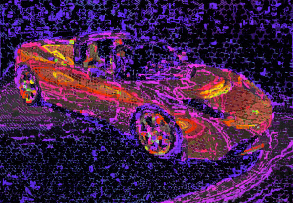 Tesla Art Print, canvas, artwork by Peter McClard at VectorArtLabs.com