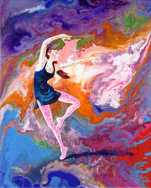 Abstract Ballerina Art - Summer Story (i), Print for Sale