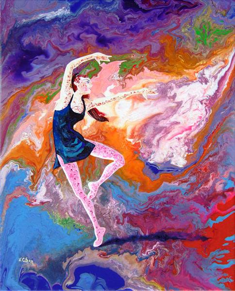 Abstract Ballerina Art - Summer Story (i), Print for Sale