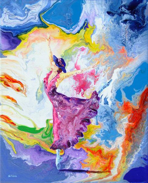 Abstract Ballerina Art - Summer Story (ii)