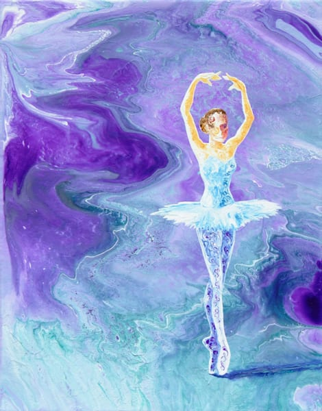 Abstract Ballerina Art, Transformation - Acrylic Painting for Sale