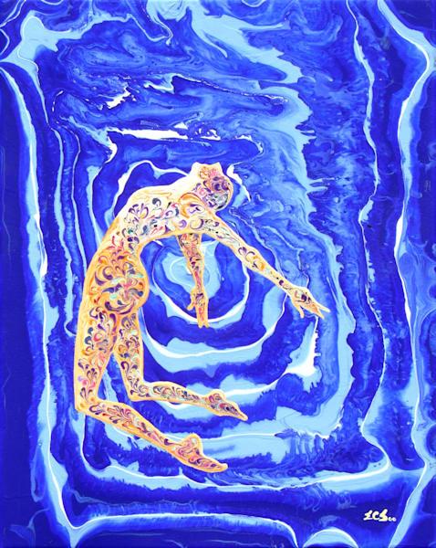 Abstract Ballerina Art, Leap #10