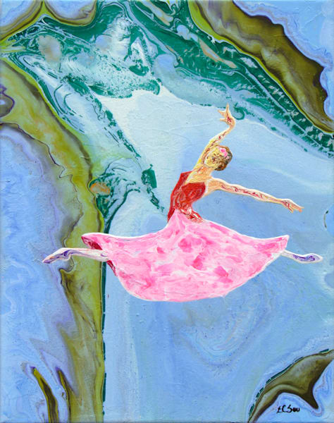 Abstract Ballerina Art, Princess Magnolia