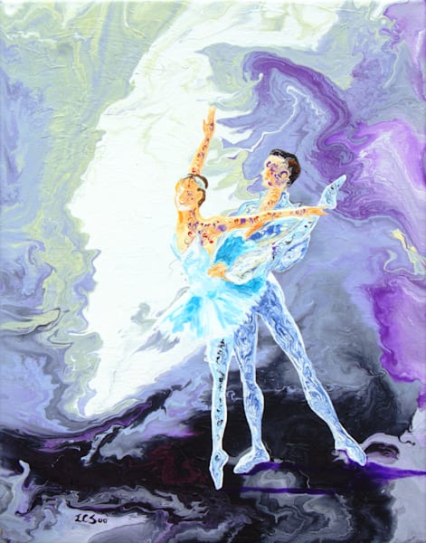 Abstract Ballerinas Art, The Duet Dancer