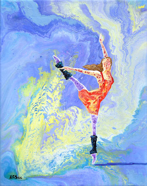 Abstract Ballerina Art, Routine Workout