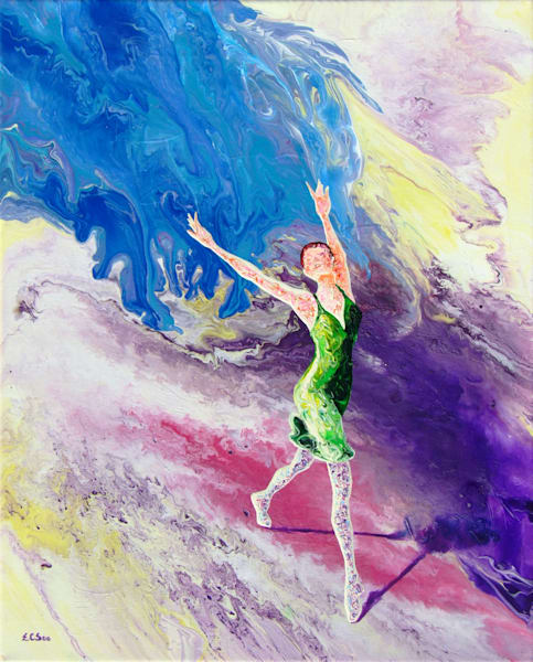 Abstract Ballerina Art, Out of The Blue