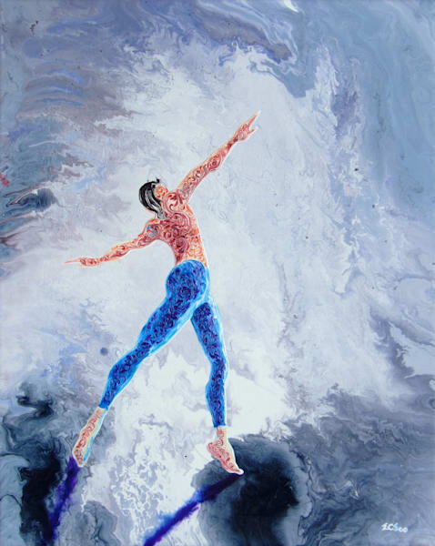 Abstract Ballerina Art, Hero #1 - Original Painting for Sale