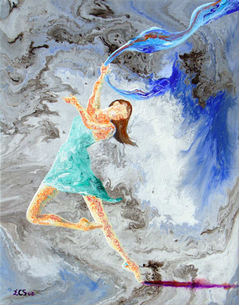 Abstract Ballerina Art, Jane, Fine Art Print