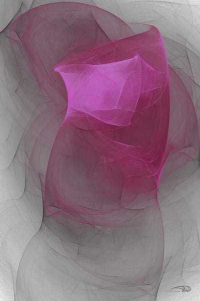 Twisted Fate bright hot pink twist digital art by Cheri Freund