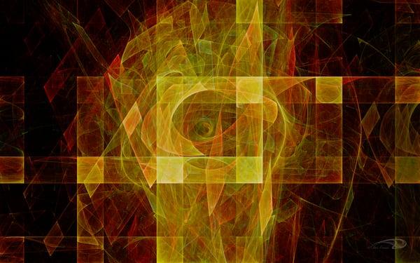 Retro Squared squares center eye digital art by Cheri Freund