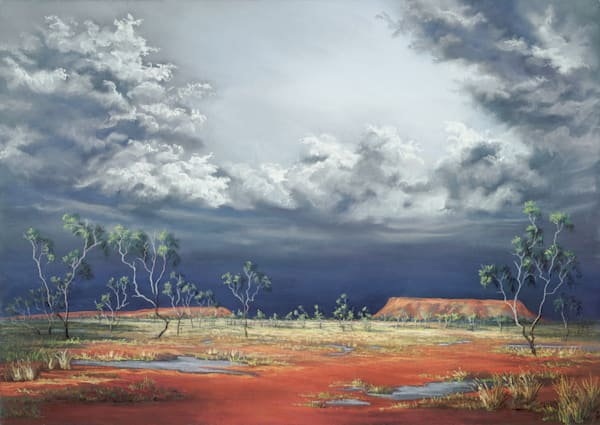 Mt Oxley Storm by Jenny Greentree
