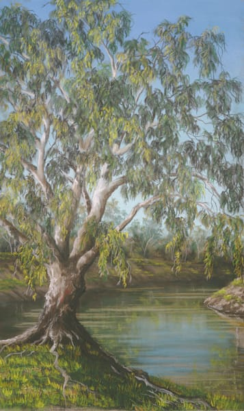 Bourke - A Vision Splendid, Green by Jenny Greentree