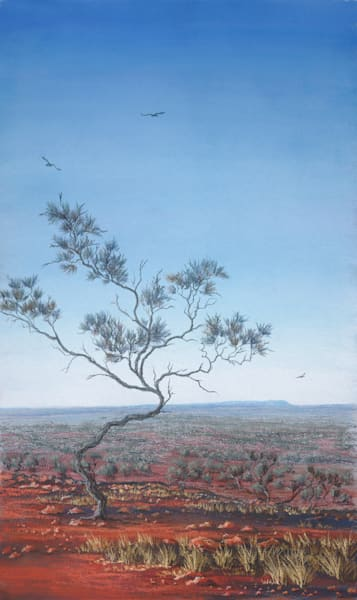 Bourke - A Vision Splendid, Blue  by Jenny Greentree