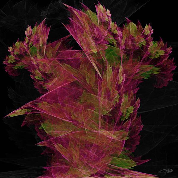 Geo FlowerN Vase digital art by Cheri Freund