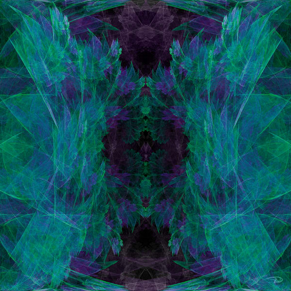 Deeply Divided mirrored abstract fractal digital art by Cheri Freund