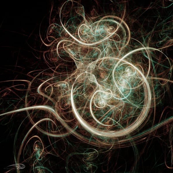 Copper Swirl digital art by Cheri Freund