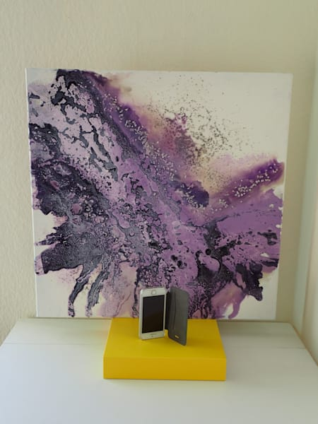 Mauve abstract art