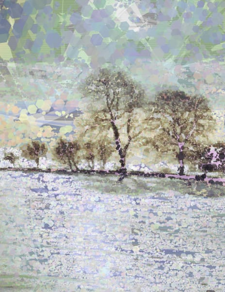 Seasonal art as photographic prints & originals by Neo Impressionist algorithmic artist Peter McClard