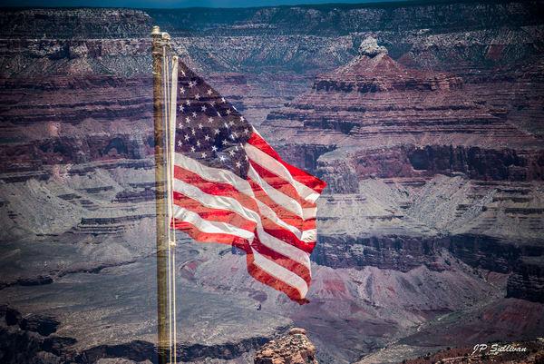 United States Flag - Freedom Flag- Military Tribute Print- Fine art photograph