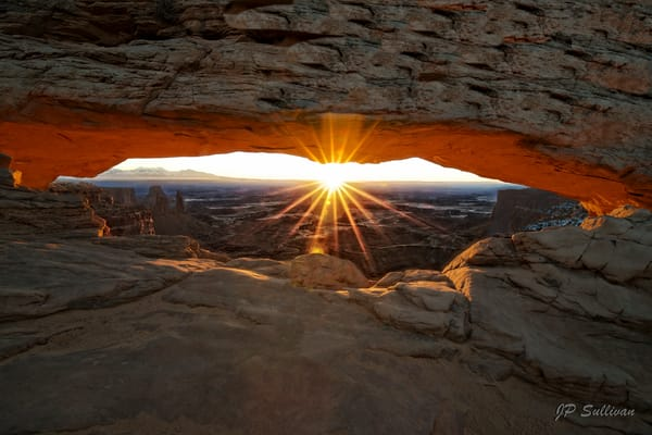 A perfect sunburst through Mesa Arch - fine art print - photography