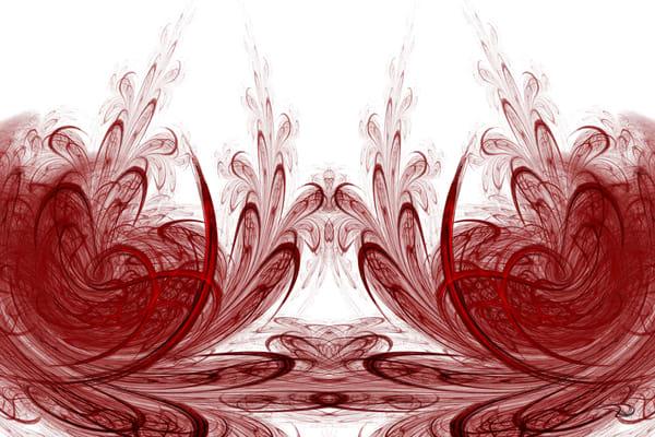 Red Plume Duo digital art by Cheri Freund