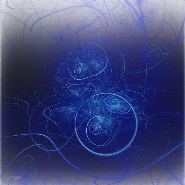 Carrie's String blue swirls digital art by Cheri Freund