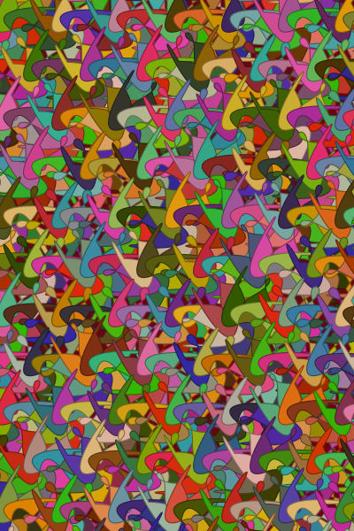 Abstract Tessellation Pattern, algorithmic  Art, paintings & photographs as originals & Prints  by Peter McClard.