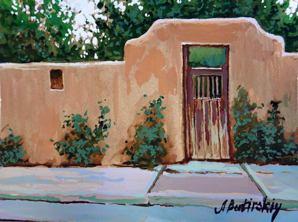 Santa Fe, New Mexico Painting by Alexei Butirskiy | Santa Fe Door #3