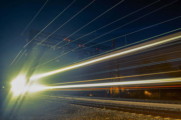 Night Train Limited Edition Signed Abstract Photograph by Melissa Fague