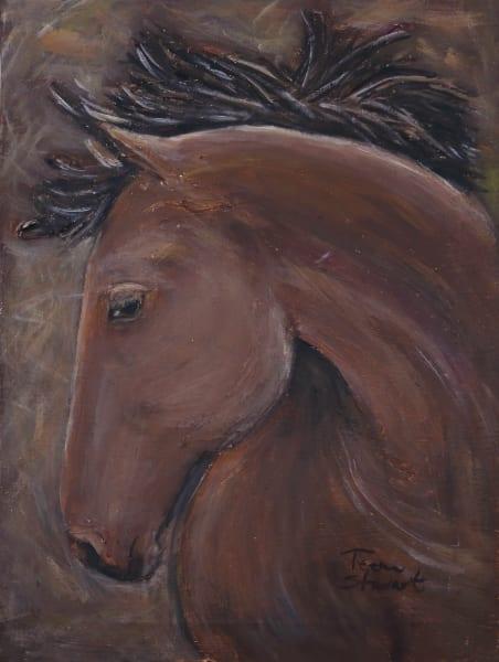 Bay Horse Head, Original Paintings ,Fine Art and Paintings for Sale by Teena Stewart of Serendipitini Studio