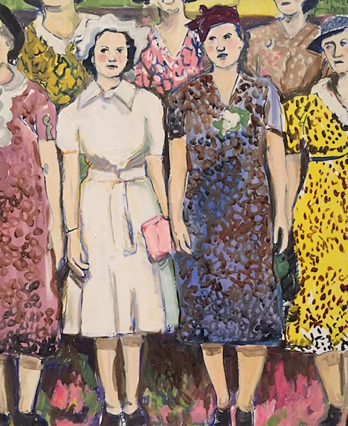 Sunday Dress Competition, original oil on canvas painting by Kathy Strause.