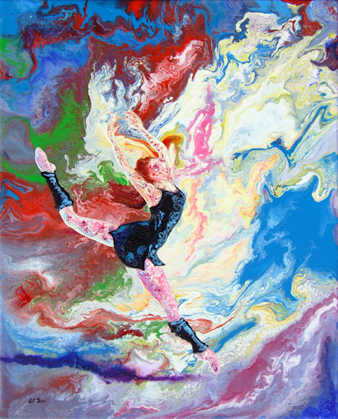 Abstract Art of Ballerina - Summer Story (iv), Original Art for Sale