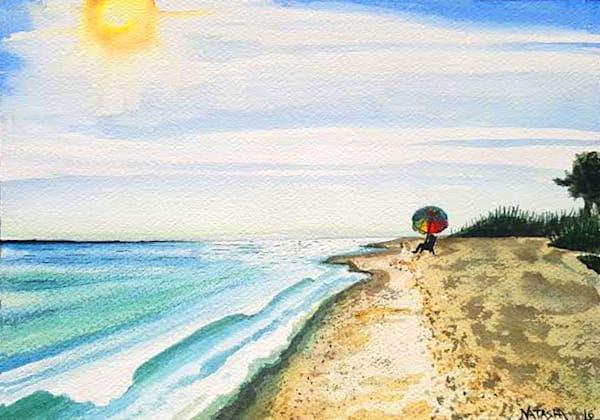 Beach Umbrella Art for Sale