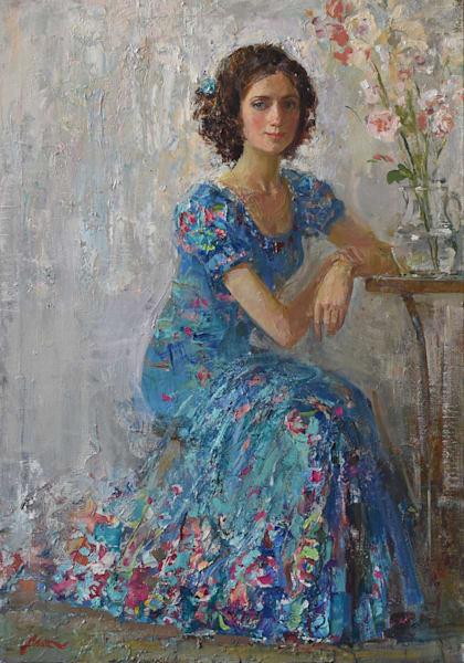 Portrait Painting of a Woman by Anastasiya Matveeva | Adoncia