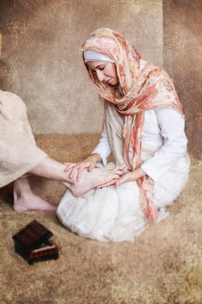 Mary Anointing Christ's Feet