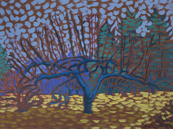 landscapes, trees, art, painting, prints, apple, tree