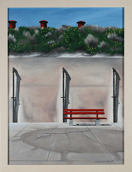 Bench Fort DeSoto FL | Original Oil Painting | Shelley Smith