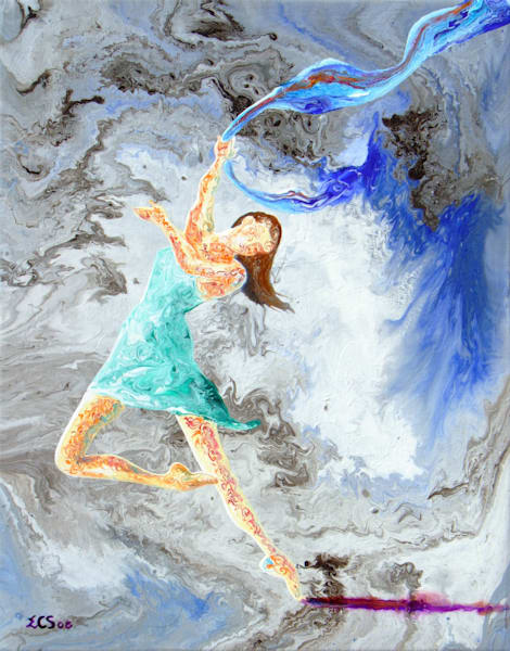 Abstract Ballerina Art, Jane, Original Painting for Sale