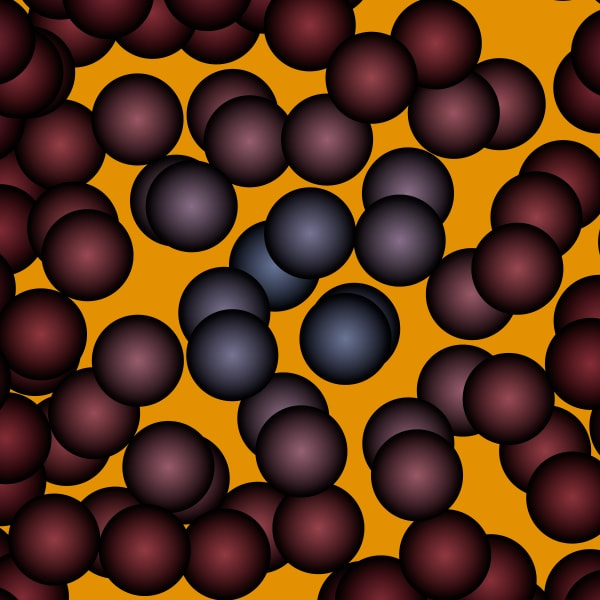 Molecules Art Print