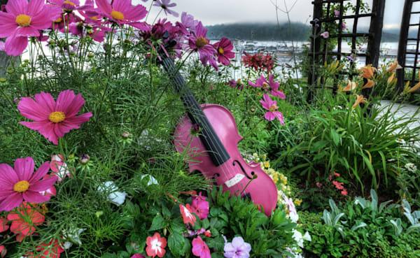 Strings In Pink Art by instrumentalart