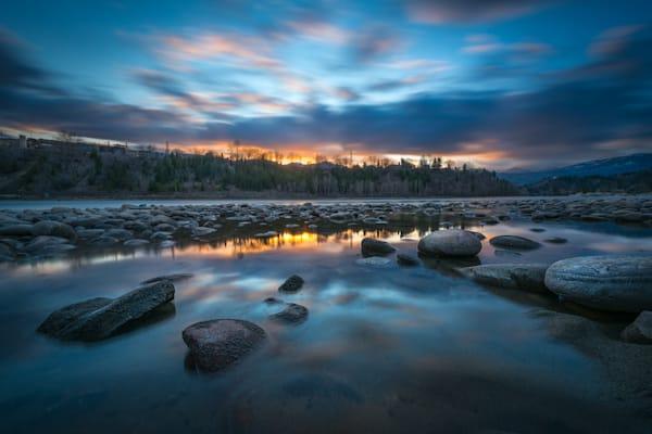 Columbia River Sunset Photography Art | Kokanee Camera and Nelson Fine Art Printing
