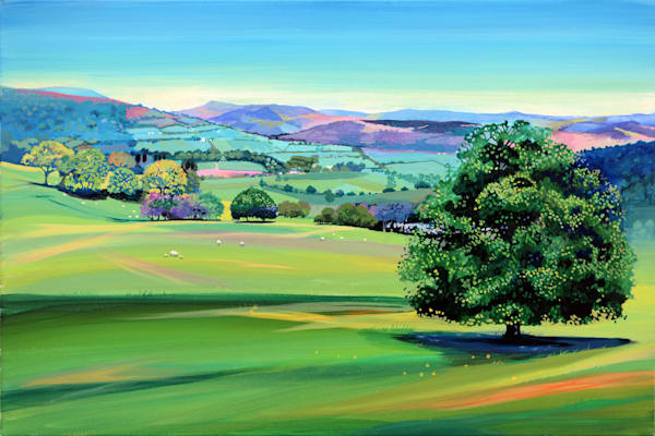 Art Print Usk Valley