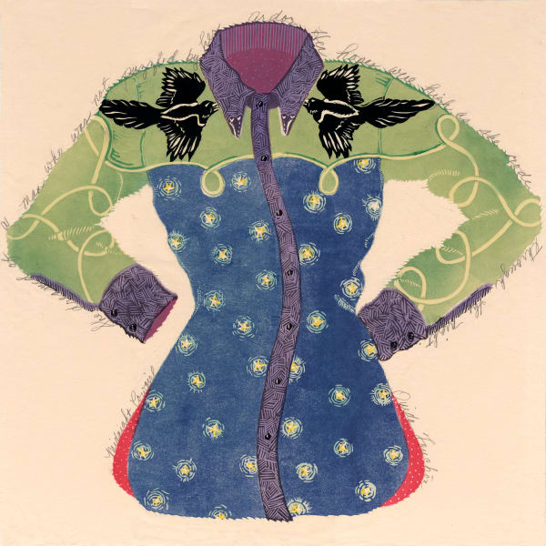 New Mexico artist Ouida Touchon | womenswear handprints for sale.