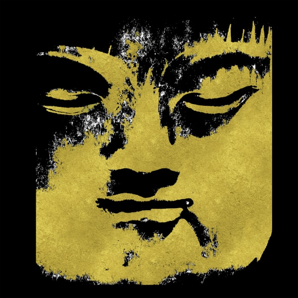 In the shadow of the Golden Buddha Art paintings for sale | Grimalkin Studio