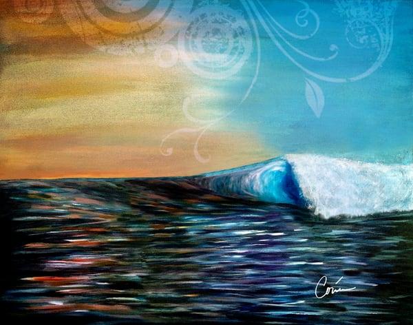 Corina Bakke Colorful Maui Wave in August
