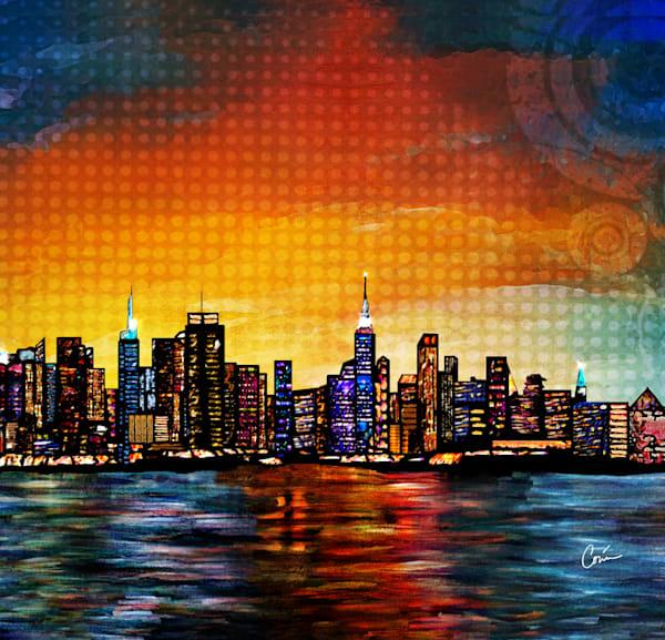 New York Skyline, Cityscape by Artist Corina Bakke