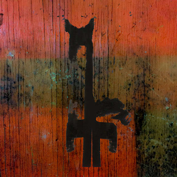 Horse and Barn Zen abstract art paintings for sale by Grimalkin Studio